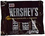 Hersheys Milk Chocolate Bars with Almonds, 6 Pk Display 246 gms