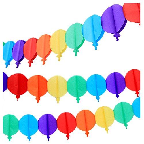 Super44day 10 pezzi colorati Palloncino Ghirlanda Carta velina Ghirlanda set, Ghirlanda Craft, per la decorazione di nozze, decorazione del partito, festa di compleanno, Nursery Decorazione pompon