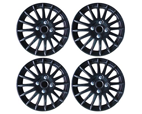 Buy Auto Pearl-Premium Quality Car Full Black Wheel Cover Caps Black 15 inches Press Type Fitting For -Honda City Ivtec on Amazon | PaisaWapas.com