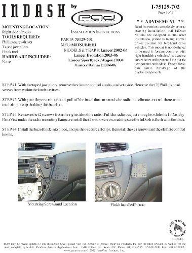 Padholdr Docking Series Economy Holder for 2002-2006 Mitsubishi Lancer Models