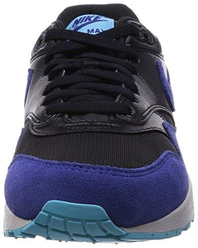 Nike Wmns Air Max 1 Essential, Chaussures de Course Homme Blk/Dp Ryl Bl-Td Pl Bl-Pr Pltn