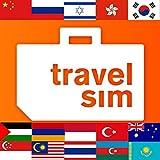 Prepaid TravelSim Sim Karte für Asien (in 15 Ländern - in Australien, Armenien, Aserbaidschan, China, Georgien, Hongkong, Indonesien, Israel, Kasachstan, Malaysia, Palästina, Russland, Singapur, Südkorea, Thailand, in der Türkei) mit 2 GB Daten / für 30 Tage (3G/4G)
