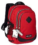 5277891fb56fdd Pro-Dg 55560 Zaino Casual, 44 cm, 22 litri, Rosso**. Grande zaino della  scuola; Due grandi scomparti e ...