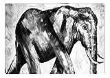Startonight Leinwand Wand Kunst Schwarz und Weiß Elefant, Doppelansicht Überraschung Modernes Dekor Kunstwerk Gerahmte Wand Kunst 100% Ursprüngliche Fertig zum Aufhängen 80 x 120 CM