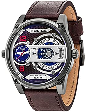 Police Analog Black Dial Men's Watch-PL14835JSU12J
