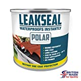 Polar Premium Black Instant Waterproof Roof Sealant Paint for Leaks 500ml, Roof Sealing