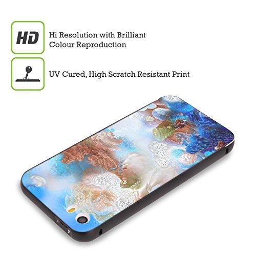 Ufficiale Runa Barriera Corallina 2 Vivido Nero Cover Contorno con Bumper in Alluminio per Apple iPhone 5 / 5s / SE Barriera Corallina Blu