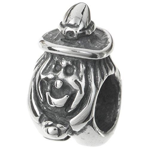 925Sterling Silber Halloween Fliegende Hexe Perle für europäische Charm Armband