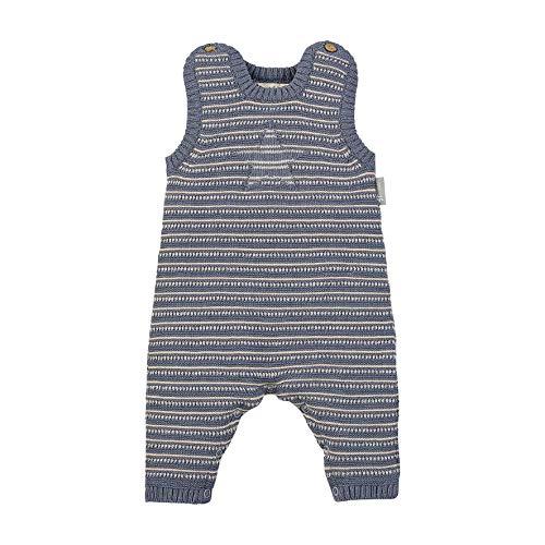Sterntaler Jersey Strick-Strampler mit Streifenmuster, Alter: 0-2 Monate, Größe: 50, Graublau, 2601971