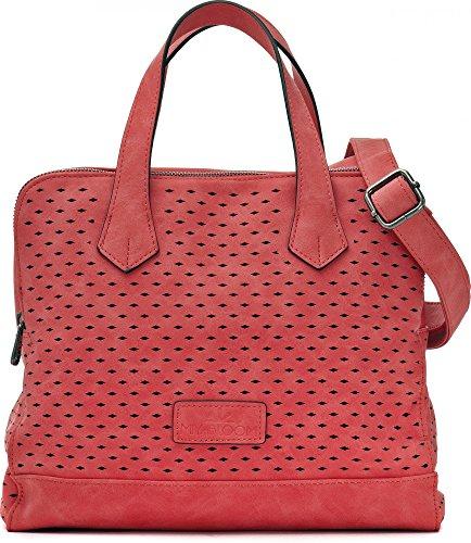 MIYA BLOOM, Sac porté main Femme, Sac porté épaule Femme, Sac bandoulière, rouge, corail, 29 x 21 x 15,5 cm