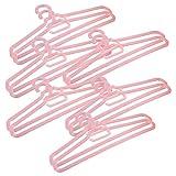 Primeway Sleek Space Saving Strip Hanger 12 Pcs Set, Pink