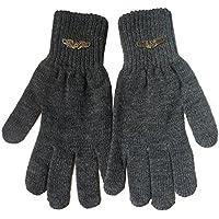 Gajraj Men's Woollen Gloves (GHF51, Dark Grey)
