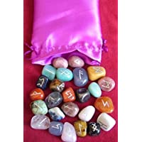 Crystal Rune Stone Set - 25 semi-precious Rune Stones in a Satin Drawstring P. preisvergleich bei billige-tabletten.eu