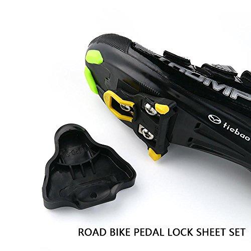 KOBWA Fahrradschuh Cleat Cover Set, Fahrrad Radfahren Cleat Abdeckungen für Shimano SPD-SL Pedal Cleats Systeme, schwarz (1 Paar) -