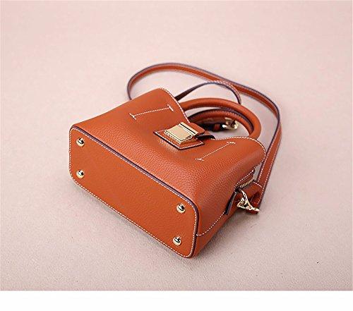 Womens Soft Borsette in pelle multicolor borsa a tracolla borse da viaggio,verde Marrone