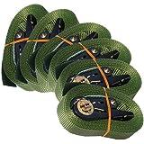 6 Zurrgurte mit Ratsche 6 m 0,8 t EN-12195-2 grün Spanngurte 6m
