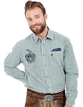 Michaelax-Fashion-Trade Krüger - Herren Trachtenhemd in Grün, Ben (95104-5)