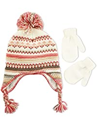 ABG Accessories Little Girl s Toddler Winter Hat and Mitten Set c190784f8d16