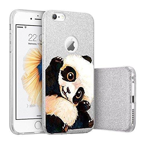 """Coque iPhone 7plus, TPU+PC Protection case pour iphone 7 Étincelant brillamment pour iPhone 6/6s 4.7' y 6plus /6splus 5.5""""Qissy® big panda"""
