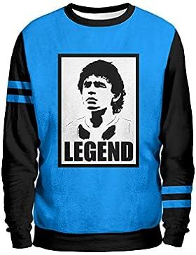 POSTER D10S Felpa Uomo - Napoli Urban Mentality Sweatshirt Man - SSC Napoli 1926 Calcio Maradona Stadio San Paolo...