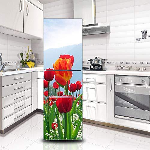 Selbstklebende Kühlschranktür Aufkleber Dekorative Kühlschrank Aufkleber Für Küche Wohnzimmer Wohnkultur Dekoration ()