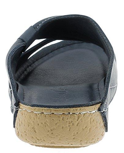 Andrea Conti 0029216 Damen Pantoletten Blau (Dunkelblau)