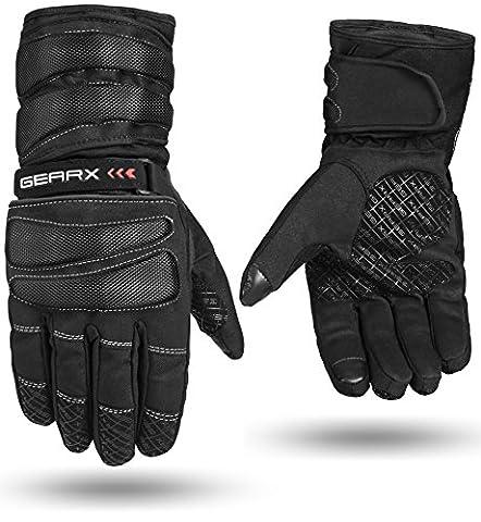 GearX Blade Motorcycle Gloves Motorbike Waterproof Thermal Padded (M)