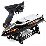 Fytoo UDI001 High-Speed-Fernbedienung Boot 2.4g Wasser Geschwindigkeit Boot Modell elektrisches Boot Kinder Spielzeug Luftschiff (Schwarz)