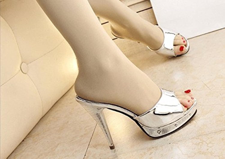 AWXJX donna flip flops Awxjx estate sandali da fine con tacco alto impermeabile, donna, argento, 7.5 US 38 EU... | Prezzo Moderato  | Maschio/Ragazze Scarpa