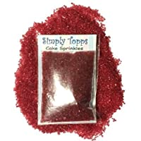 Sparkling Sugar Crystals 30g - Cupcake Cake Sprinkles for Decorating (Red)