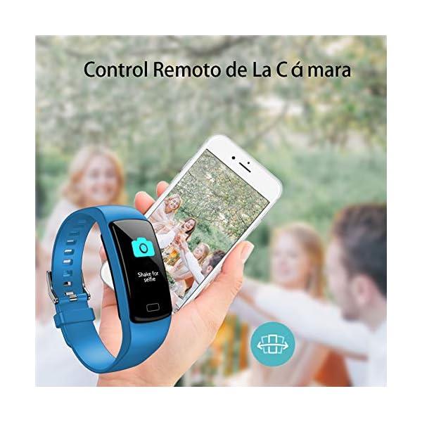 Pulsera de Actividad Inteligente Impermeable IP67 con 8 Modos de Deporte,Pulsera Inteligente con Pulsómetro, Blood Pressure, Sueño,Podómetro,Pulsera Deporte para Android y iOS Teléfono móvil 13