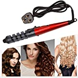 CkeyiN Spiral Curling Iron Ceramic Curling Wand Clip Hair Curler 360 Degree Rotation
