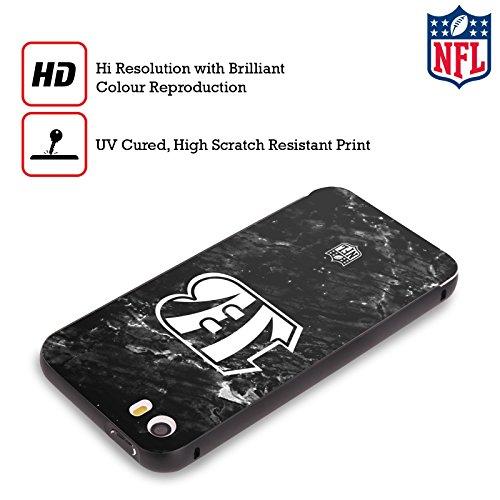 Ufficiale NFL LED 2017/18 Cincinnati Bengals Nero Cover Contorno con Bumper in Alluminio per Apple iPhone 5 / 5s / SE Marmo