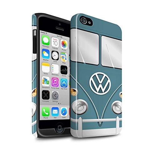 STUFF4 Glanz Harten Stoßfest Hülle / Case für Apple iPhone 4/4S / Titan Rot Muster / Retro T1 Wohnmobil Bus Kollektion Blau Taube