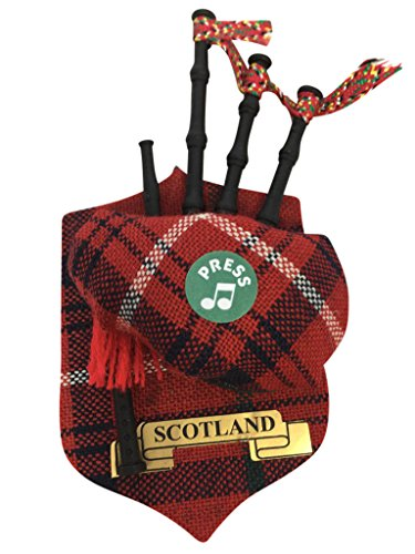 Scottish rot Tartan Schottland-Musik Kühlschrankmagnet Dudelsack