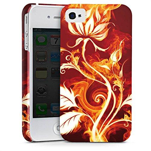 Apple iPhone X Silikon Hülle Case Schutzhülle Rose Feuer Blume Premium Case glänzend