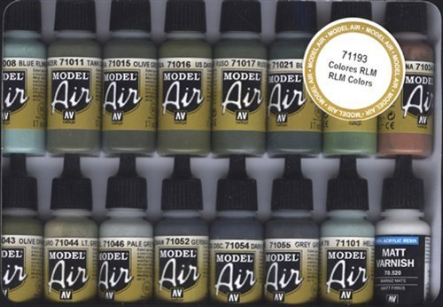Vallejo RLM Colors Model Air Paint, 17ml by Vallejo (English Manual)