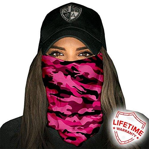 Pink Camo SA Company Face Shield   Loop Scarf   Bandana   Balaclava.  Multi-Functional Headwear   Scarf. SPF 40. Outdoor Activity Mask (Fishing 97df4cb20c3