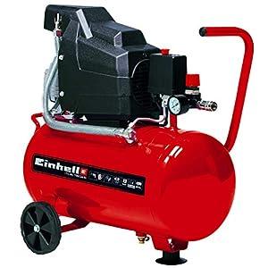 Einhell 4007325 TC-AC 190/24/8 – Compresor de aire, depósito de 24 l, 2850 rpm, 8 bar, 1500 W, 220-240 V, 50 Hz, Rojo/Negro, 578 x 258 x 572 mm
