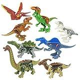 YAHAMA 8 Pezzi Costruzioni Dinosauri Dinosauri Giocattolo Mini Dinosauri Mini Dinosauri Piccoli Dinosauri Puzzle 3D Dinosauro Kit