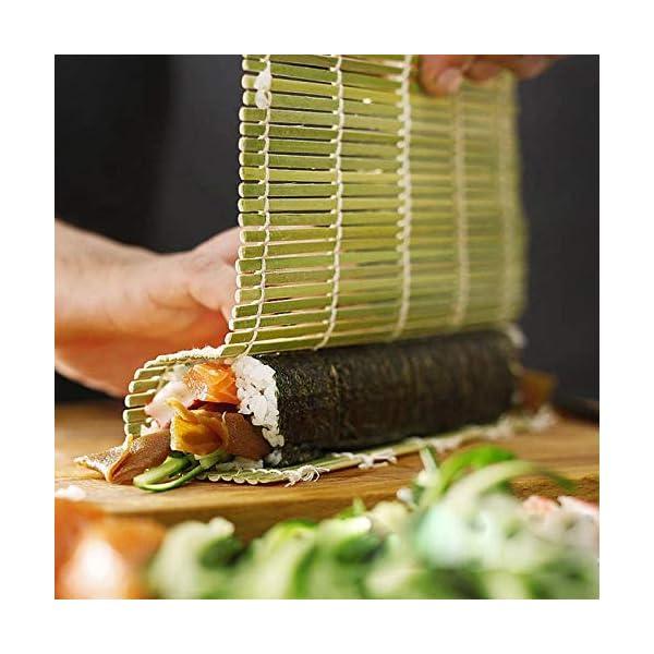 AYRSJCL Rodillo Herramienta Sushi 1pc de bambú del balanceo Mat Onigiri Rice Rodillo del Pollo de la Mano del Fabricante… 1