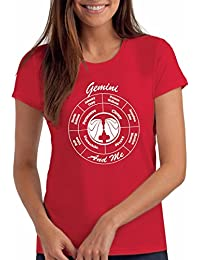 Womens Gemini Zodiac / Horoscope / Star Sign Birthday T Shirt Gift, 21 May - 20 Jun