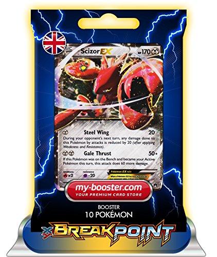 SCIZOR EX (scherox) 76/122 170HP XY09 BREAK POINT (Turbofieber) - Booster mit 10 Englisch Karten Pokemon my-booster