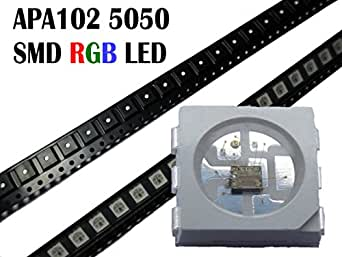 Lot de 50 lED rGB sMD 5050 aPa102 comme wS2801 puce