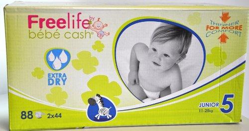 Windelhosen Junior 11-25 kg, BébéCashFreelife, Grösse 5, 2x44 Stück, Unisex-Babywindeln -