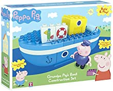 Peppa Pig - Build & Play - El abuelo cerdo Barco - Construction Set 1 Mini Figurita