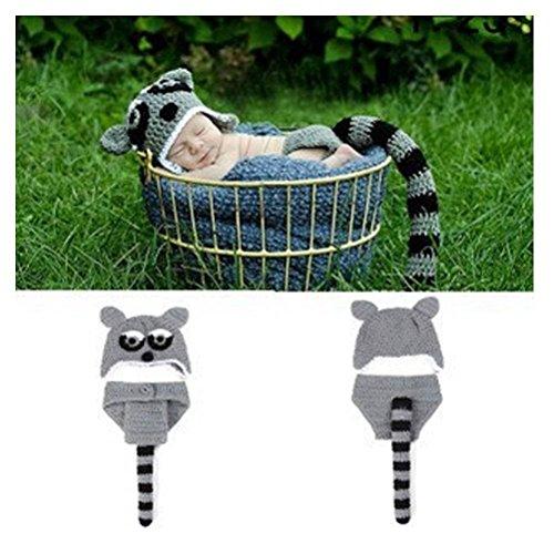 Kleinkind Fox Kostüm - DAYAN Netter Fox Art-Baby-Kleinkind Newborn handgemachte Häkelarbeit-Strick Unisex-Baby-Kappen-Ausstattungsbaby Fotografie Props