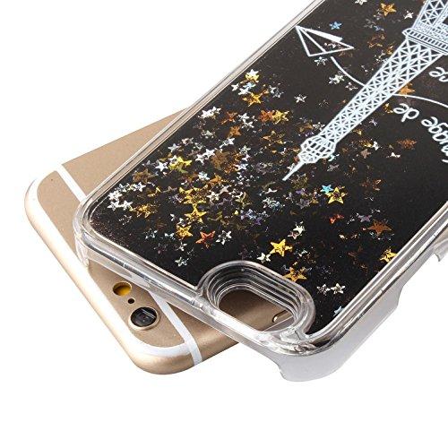 iPhone 6S Plus Coque ,iPhone 6 Plus Coque,iPhone 6S Plus Case,iPhone 6 Plus Case,EMAXELERS iPhone 6S Plus 6 Plus Liquid Coque,Hard Plastique Coque Etui Housse pour iPhone 6S Plus,Cute coloré Étoiles D W Black Liquid 2