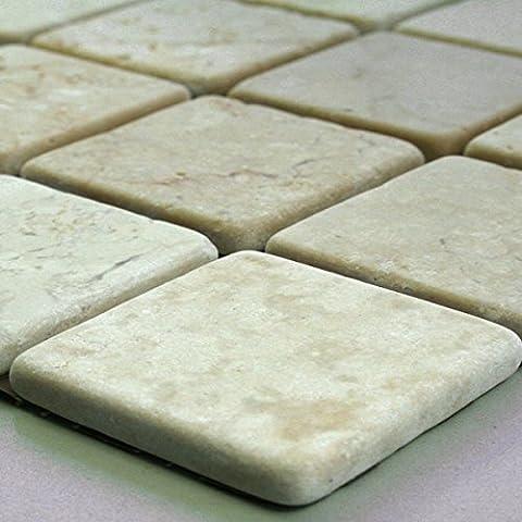 Marmor Mosaik Fliesen 48x48x8mm Cream