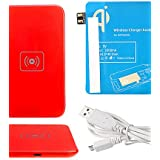 zzll151 Red Wireless Power Charger Pad + USB-Kabel + Receiver Paster (blau) für Samsung Galaxy Hinweis 2 N7100 KKKAOOL